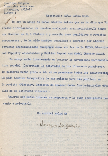 Carta Henrique Delgado