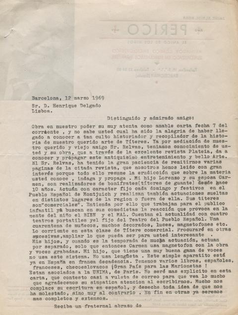 Carta de Jaime Albiol Roda