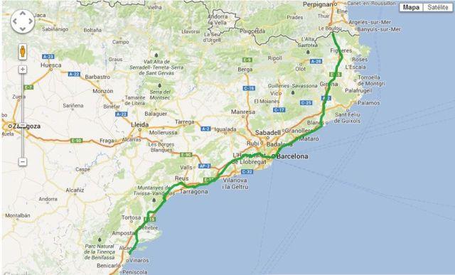 mapa Via Catalana