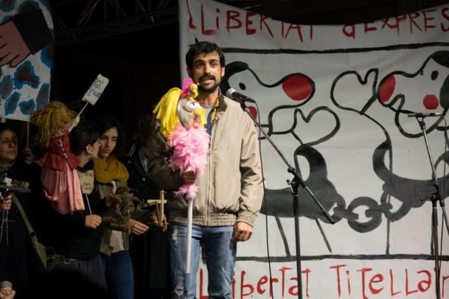 Concentració Titellaires en llibertat sense càrrecs