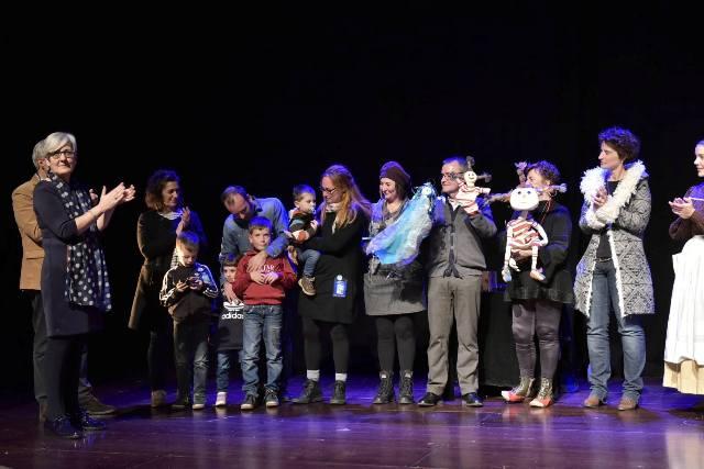 Foto de família homenatjats pel TOPIC