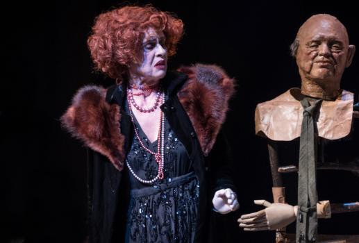 La Visita de la Vella Dama, a partir de la peça de FRIEDRICH DÜRRENMATT, amb Vicky Peña, Xavier Capdet i els Farrés Brothers. Direcció i dramatúrgia de Jordi Palet