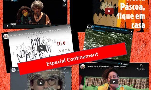 L'activitat titellaire no s'atura: tallers, espectacles, improvisacions, tràilers… a la Xarxa