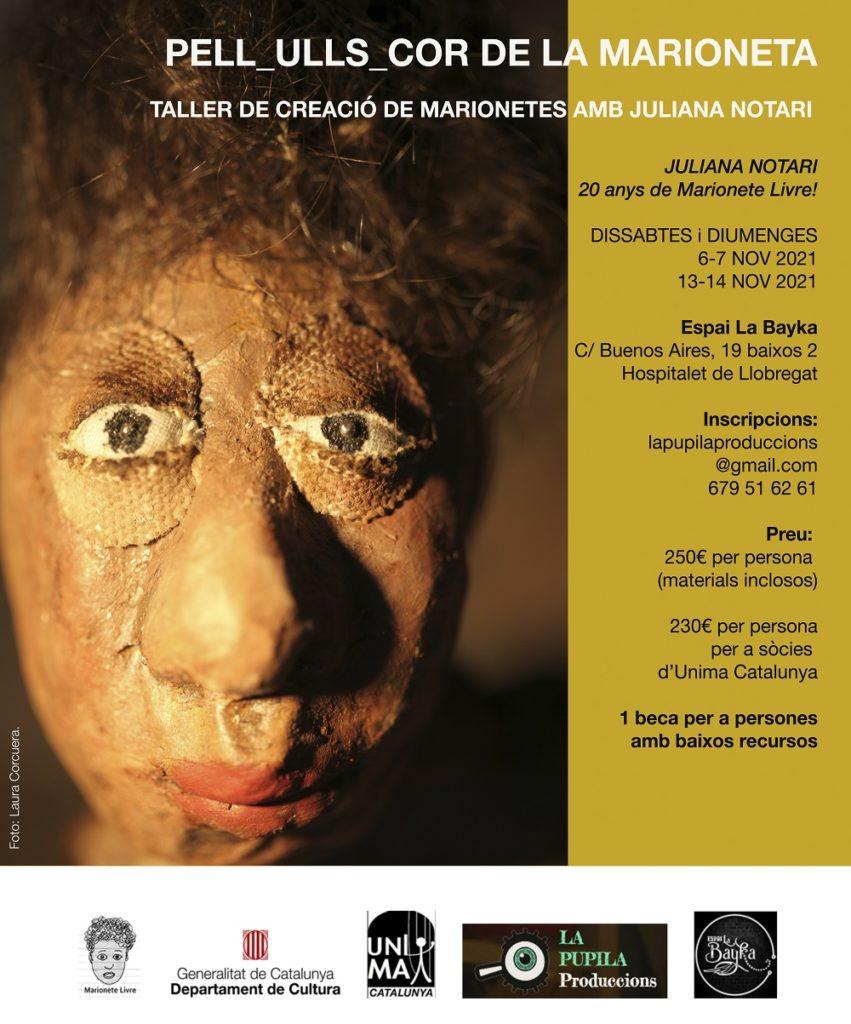 'Pels-Ulls-Cor de la Marioneta' – Taller de creació amb Juliana Notari a La Bayka @ La Bayka