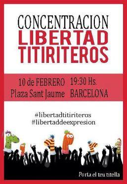 <!--:es-->Trobada a la Plaça Sant Jaume per a l'alliberació dels titellaires empresonats a Madrid<!--:-->