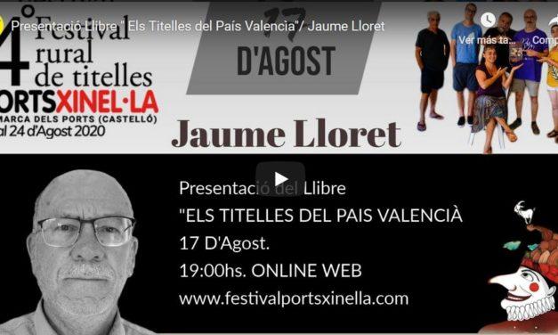 'Els titelles al País Valencià': actualitat sobre el llibre de Juame Lloret